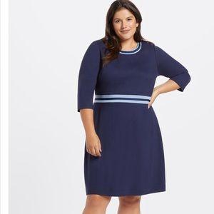 Draper James NWT XL Persley Ponte Knit Dress Navy